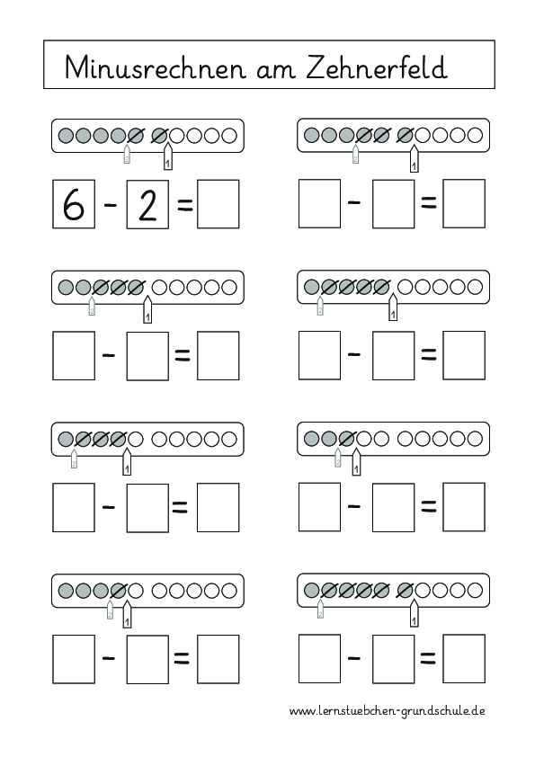 Blitzblickkarten Zehnerfeld Blitzblick Klasse 8